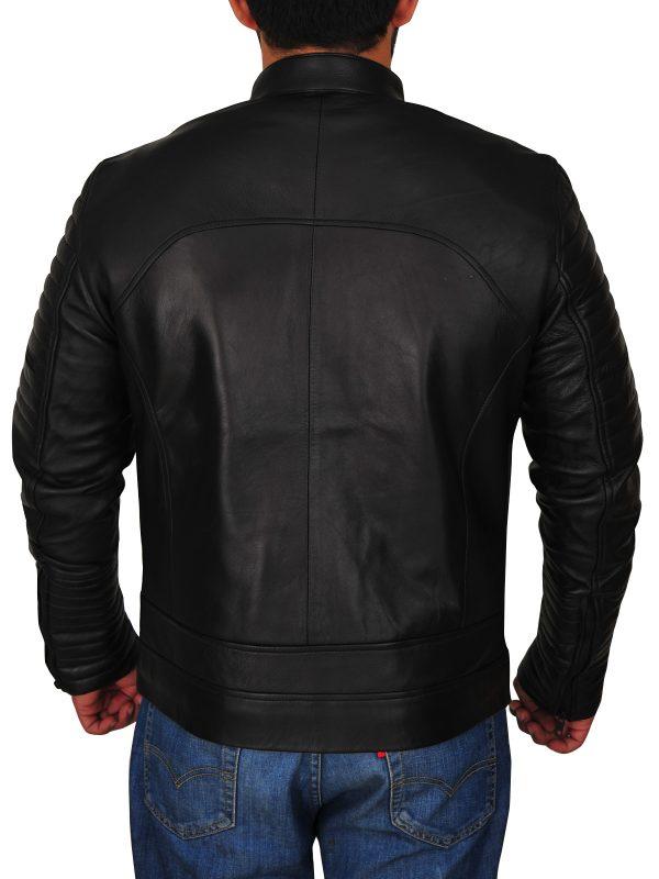 stylish black leather jacket for men, men stylish leather jacket,