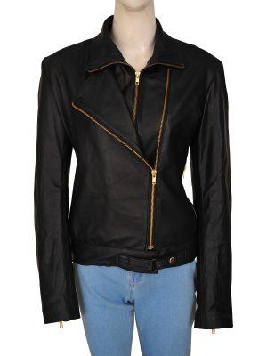 stylish black leather jacket, black leather jacket for women,