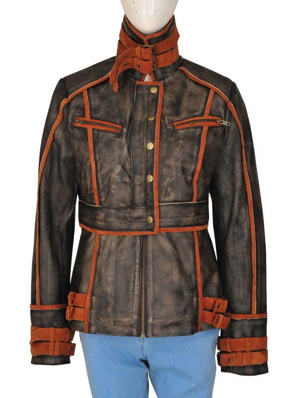 women cosplay brown jacket, cosplay costume jacket for women,