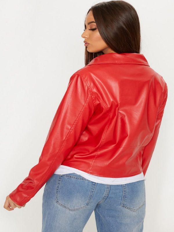 stylish women red jacket