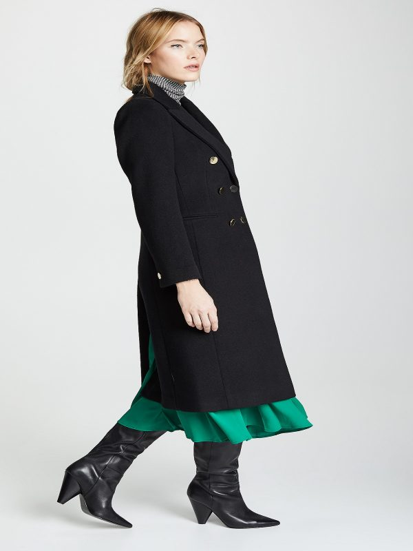women black wool coat