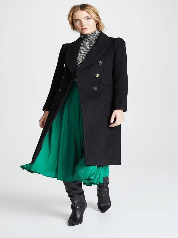 trending women black coat