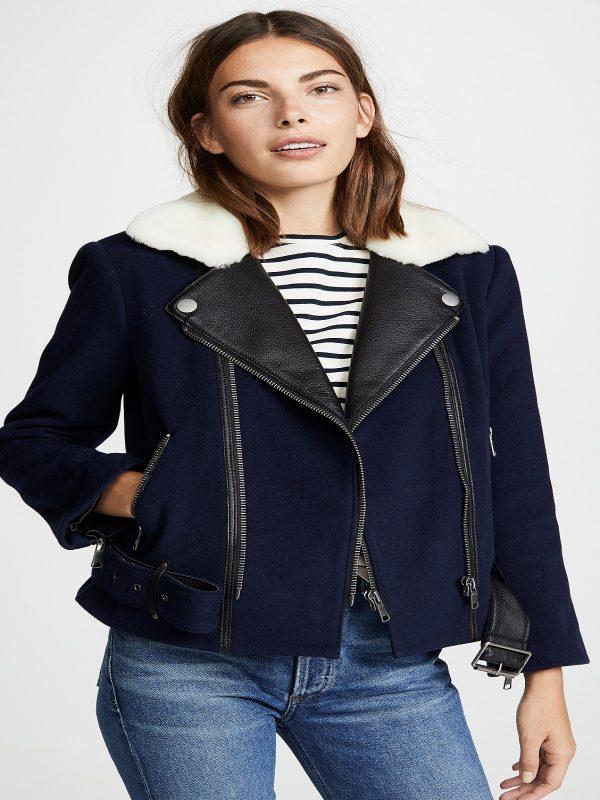 elegant women leather jacket