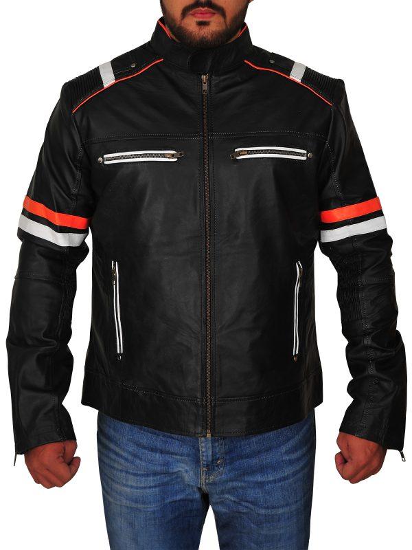 black moto leather jacket, motorcycle black leather jacket,