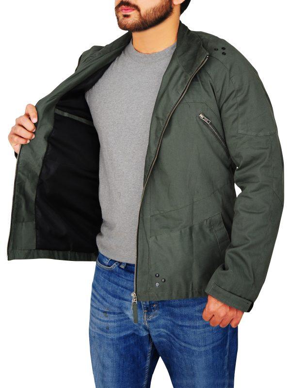 cotton jacket for men, green jacket for men,
