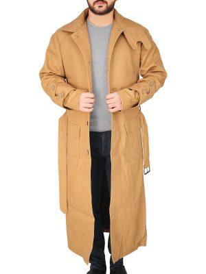 men tan long coat, tan long coat for men,