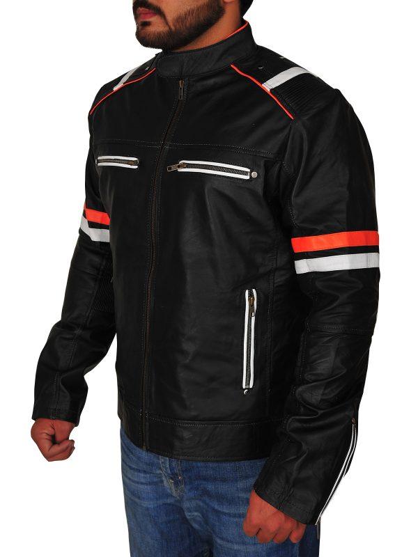 black biker jacket for men, biker leather jacket for men,