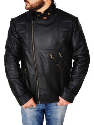 men fashionable leather jacket, street fashion leather jacket,