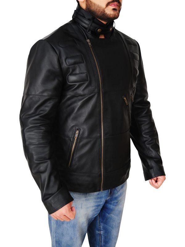 men black leather jacket, men stylish leather jacket,