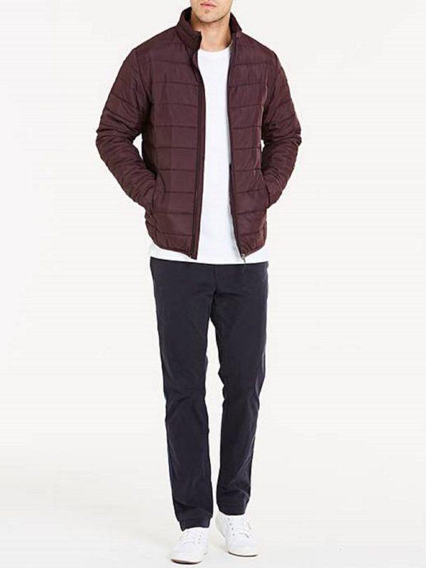 men red leather jacket