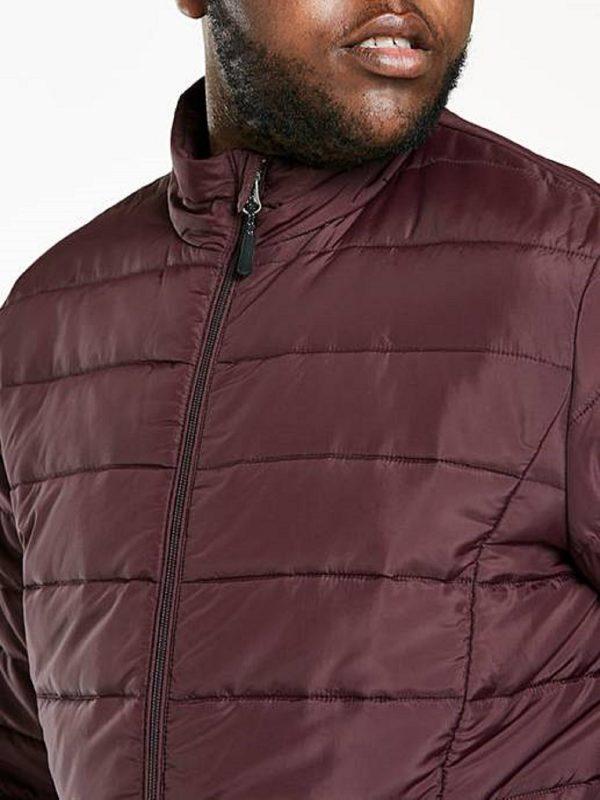 men maroon puffer jacket