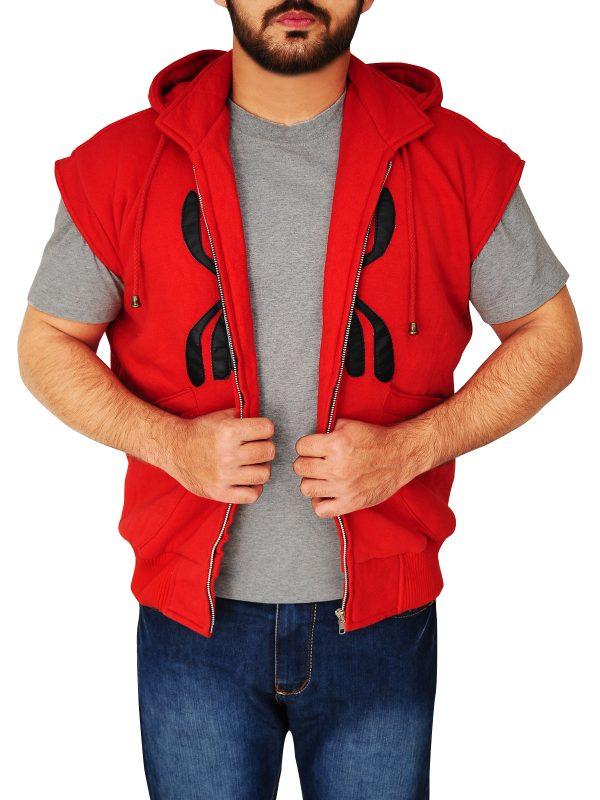 spiderman red hoodie, spiderman red vest,