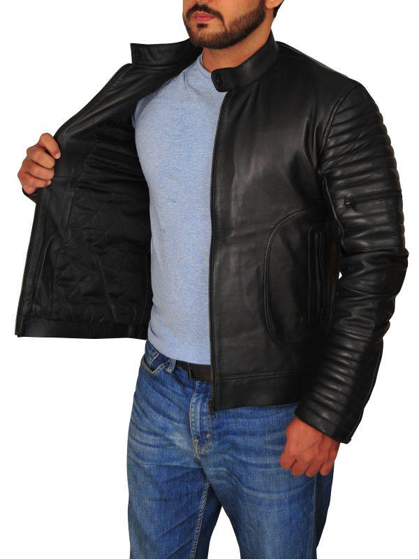 real leather jacket, cool black leather jacket mens,