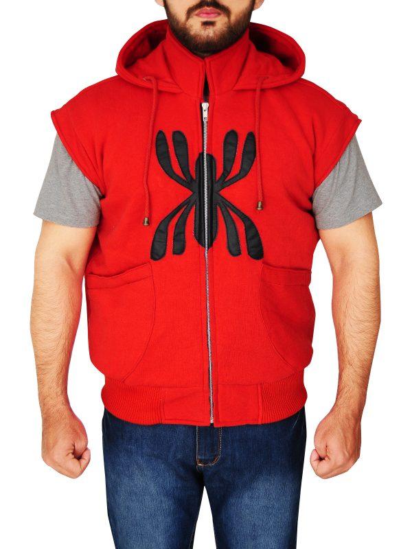 red boys hoodie, spider logo red hoodie,