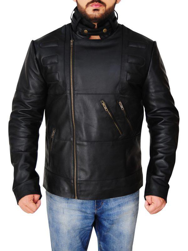street fashion black leather jacket, street fashion men jacket,
