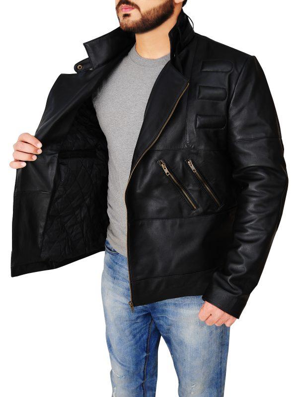 dashing black jacket, leather jacket for men,