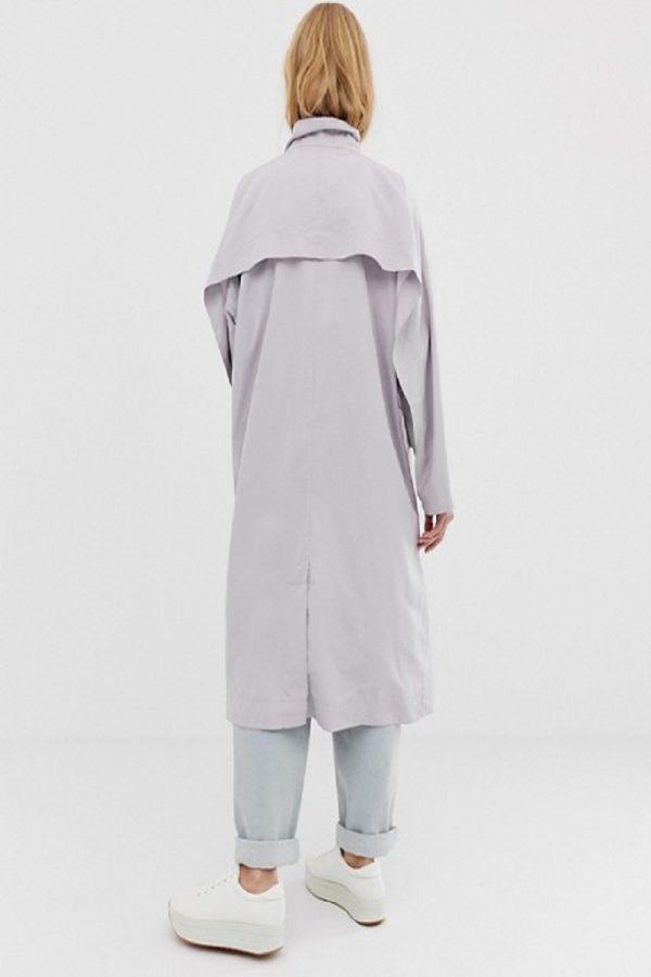 stylish women white cotton trench