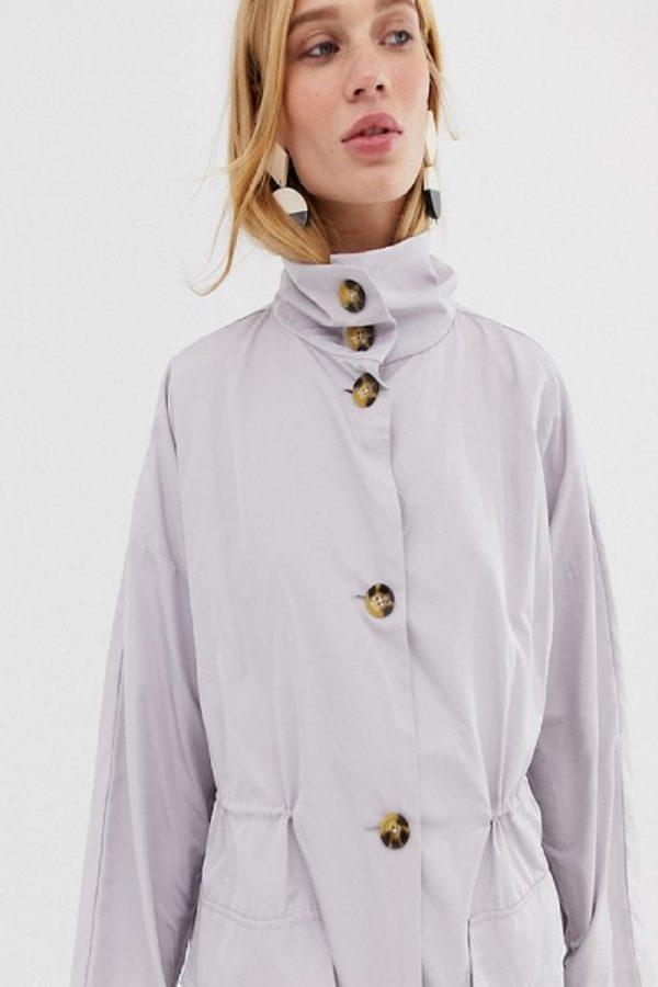 women white long cotton coat