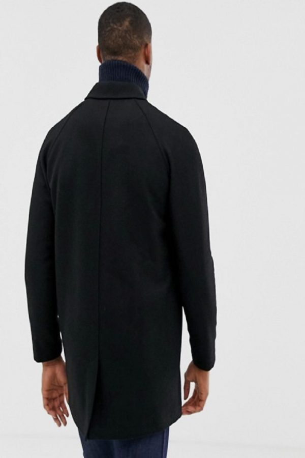 men black wool trench