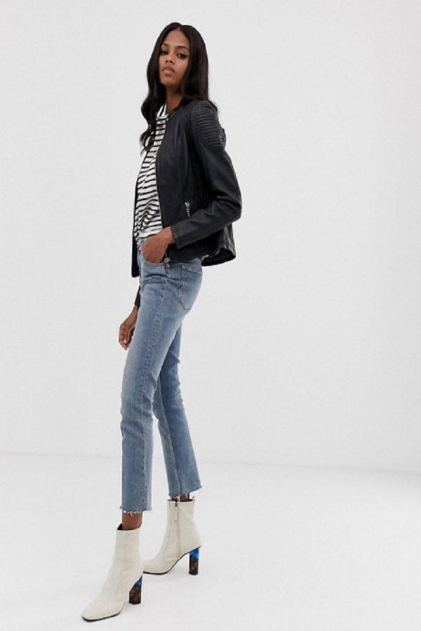 fashionable women black jacket