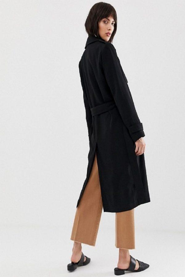 women black breasted coat