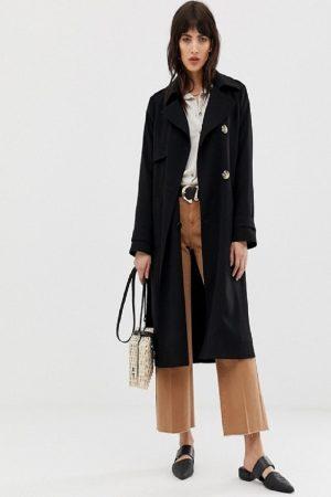 women black wool long coat