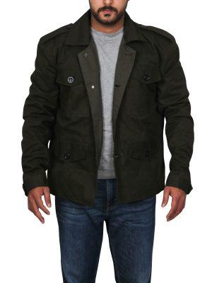 arnold black cotton jacket