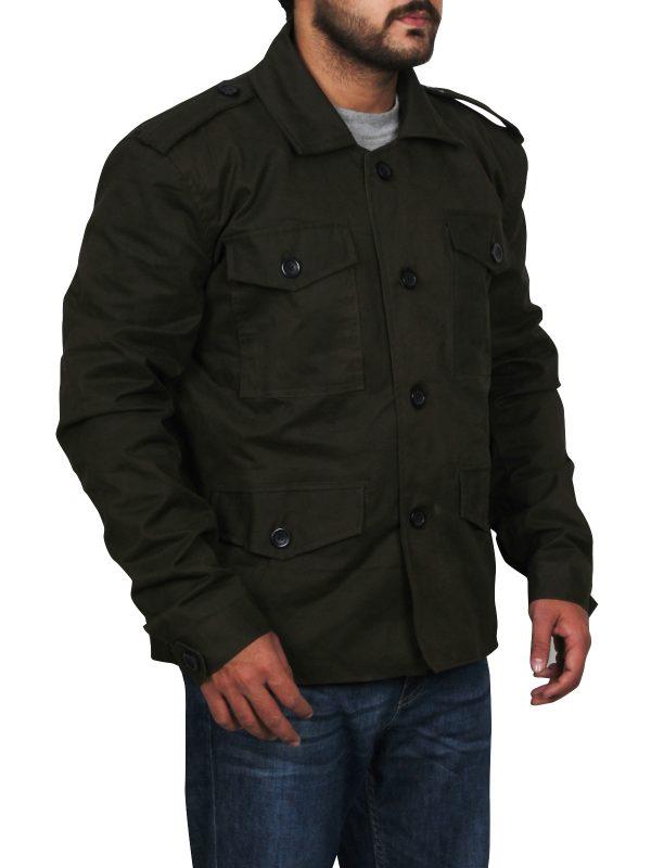 men button cotton jacket