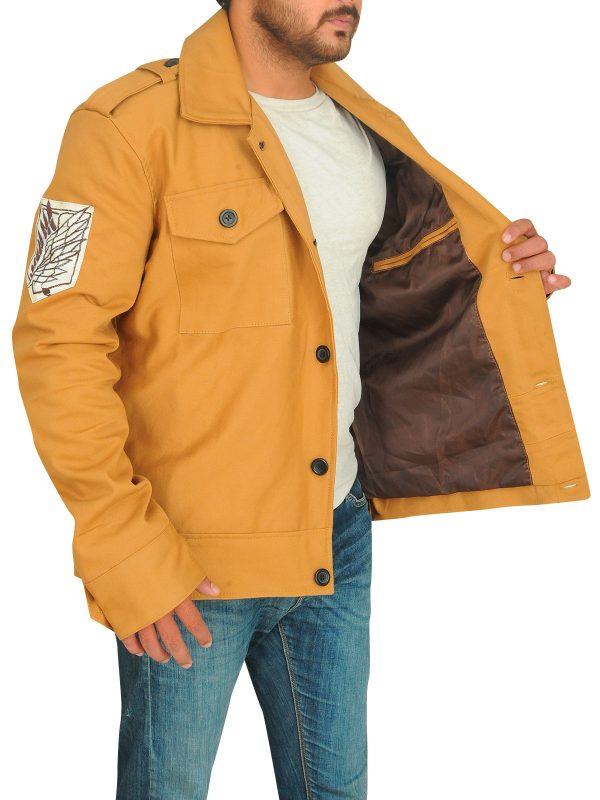 men ochre jacket