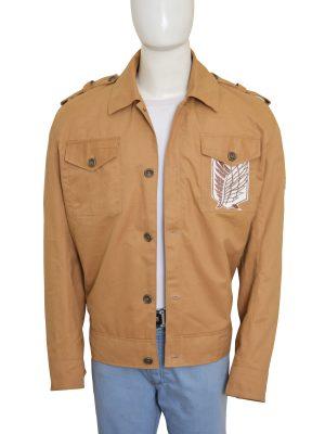 women brown cotton jacket