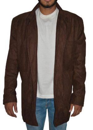 men brown long coat