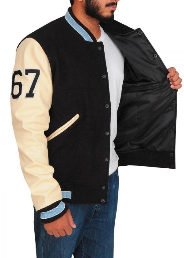 men stylish varsity jacket