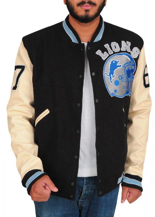 men fleece varsity jacket