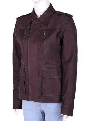 women pruple coat