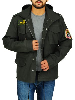 stylish men cotton jacket, fashionable green cotton jacket,