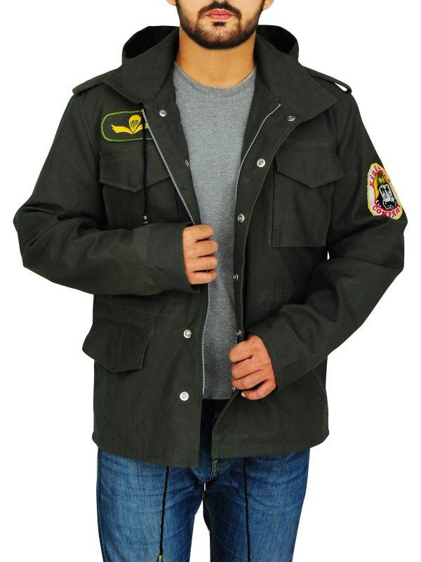 stylish men cotton jacket, fashionable green cotton jacket,
