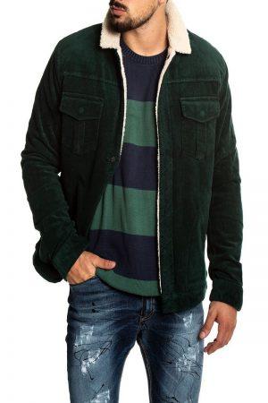 trending green wool jacket