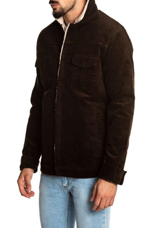 men umber brown wool jacket