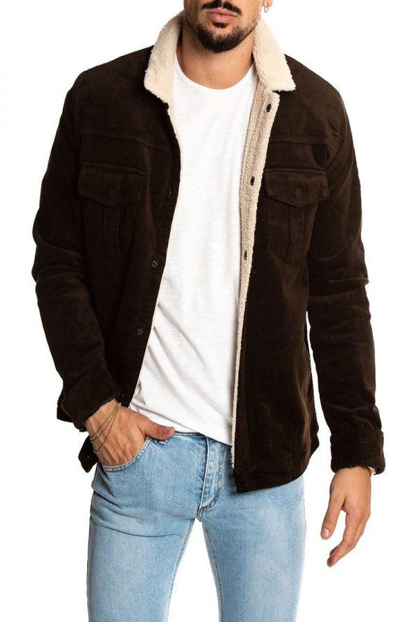 trending men brown wool jacket