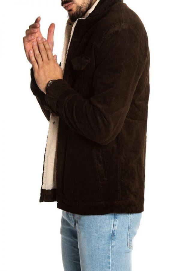 stylish brown wool jacket
