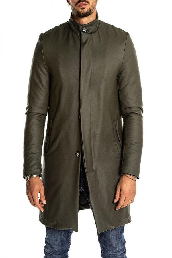 men dark green top coat