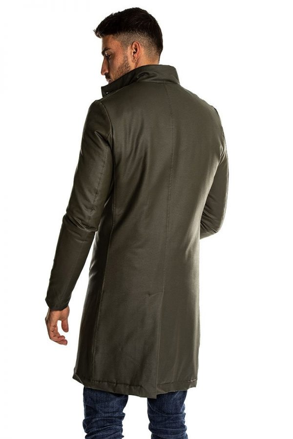 men army leather top coat