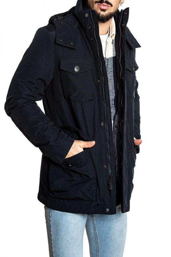 men black cotton hoodie