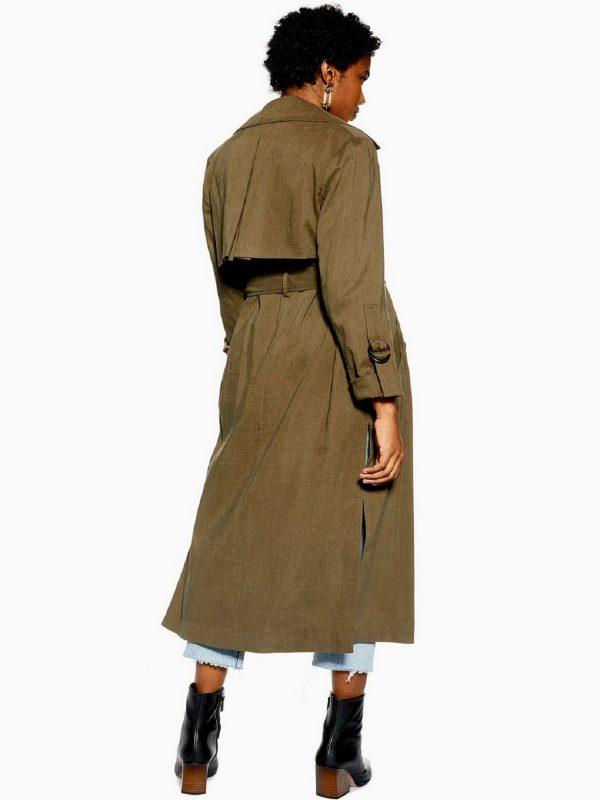 women trending khaki trench