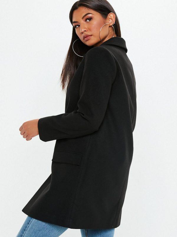 women black wool overcoat