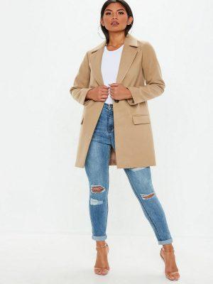 women camel brown wool coat