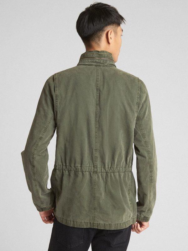 men military green cotton jacket