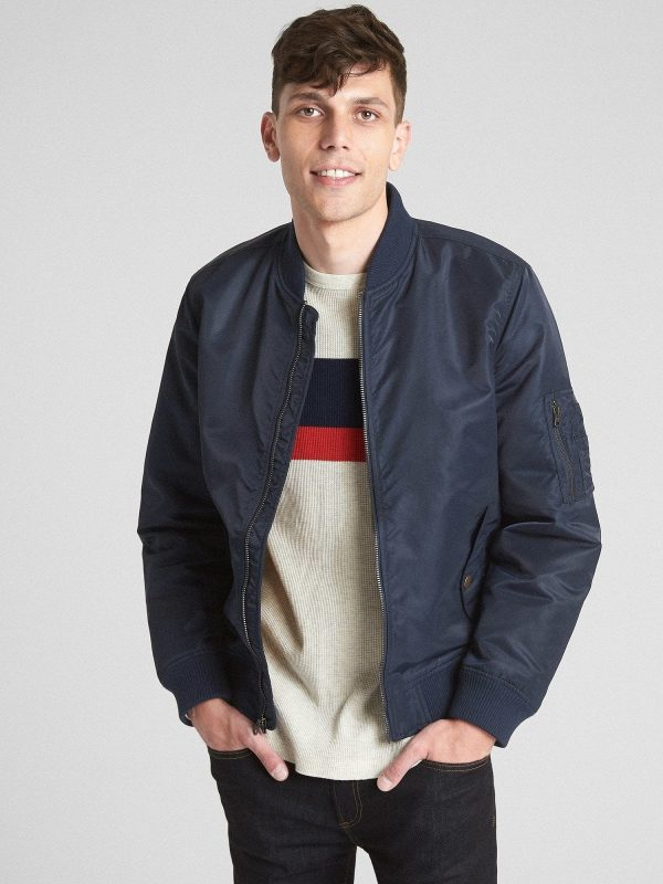 men blue leather varsity jacket