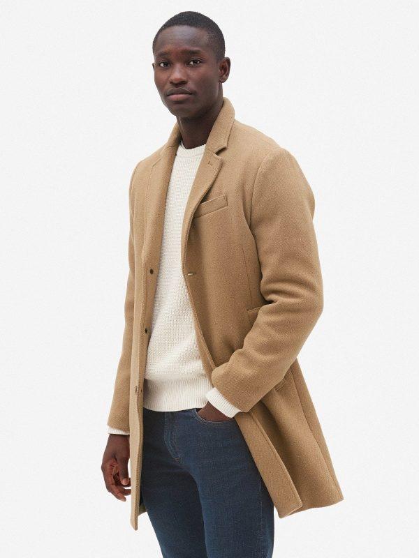 men brown wool coat