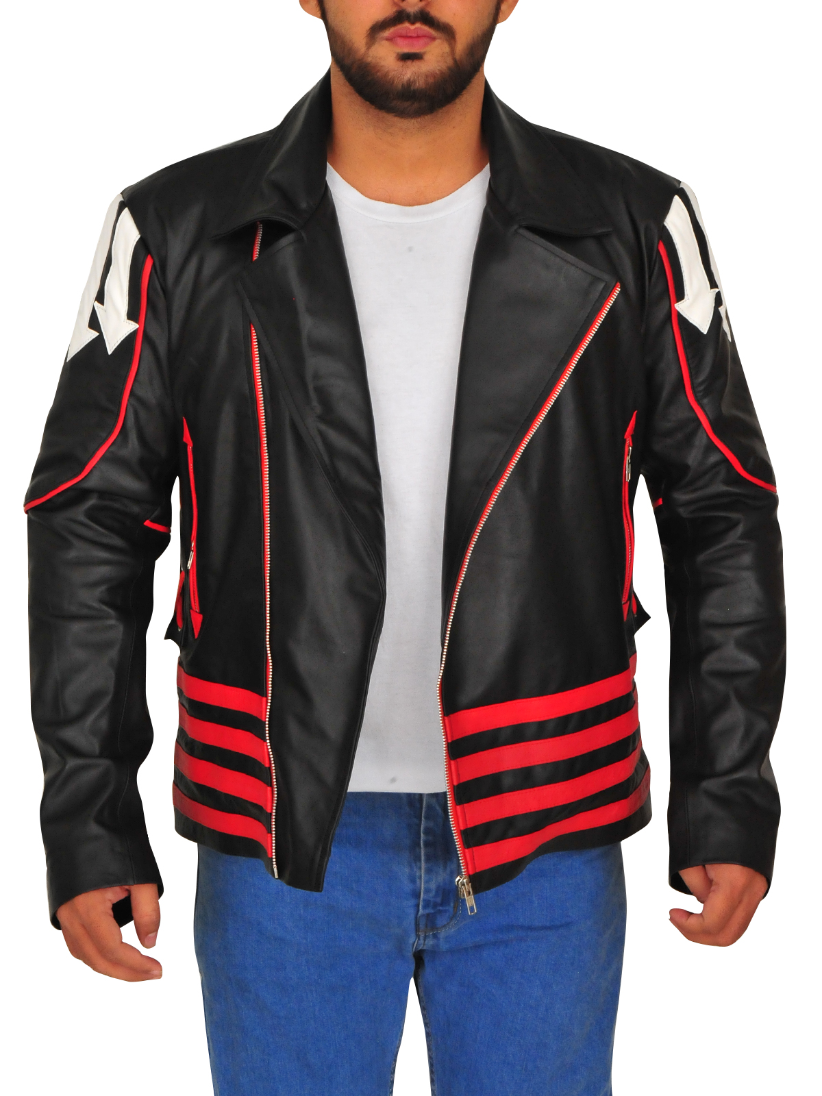 Freddie Mercury Men Yellow Biker Faux Bomber Leather Jacket